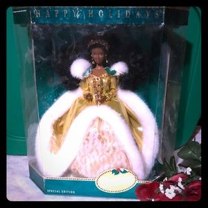1994 African American Holiday Barbie  Doll